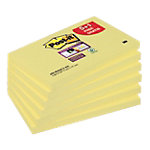 Super Sticky notes Post it Value Pack Jaune 76 x 127 mm 5 + 1 gratuit