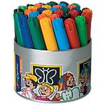 Feutres en pot cylindrique Bruynzeel Color Express Pointe large Assortiment 36 Unités