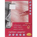 Recharge pour classeur à anneaux Multo Blanc Quadrillé 10 x 10 mm 23 trous A4   50 Feuilles