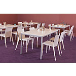 Table de cantine Schaffenburg Domino Basic Blanc, aluminium 120 x 80 x 74 cm
