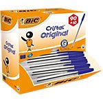 Stylos bille BIC Value Pack Cristal® 0,4 mm Bleu 90 + 10 GRATUITS 100 Unités