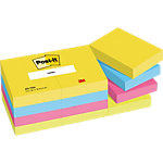 Notes couleurs Post it Energy Assortiment de couleurs 38 x 51 mm 12 x 100 Feuilles