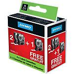 Ruban d'étiquettes DYMO D1 (2+1 gratuit) Noir sur Blanc 12 mm x 7 m