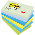 Notes adhésives Post it 655MTDR Assortiment de couleurs 76 x 127 mm 6 x 100 Feuilles