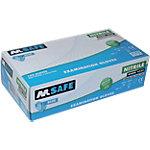 Gants M Safe Unpowdered Nitrile Taille Medium Bleu 100 Unités