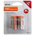 Piles Alkaline longue durée Ativa Micro AAA AAA 6