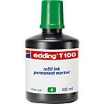 Recharge d'encre permanente edding T 100 Vert