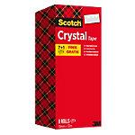 Ruban adhésif Scotch Cristal Transparent 19 mm x 33 m 7 rouleaux + 1 rouleau gratuit