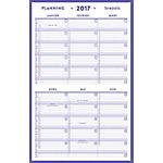 Planning Brepols Mini 6 mois par page Blanc 21 x 33 cm