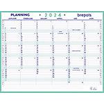 Planning Brepols Maxi 6 mois par page Blanc 33 x 42 cm