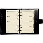 Organiseur Brepols Brefax 17 Ravenna 7 jours sur 2 pages Noir 9,5 x 17 cm