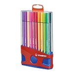 Feutre Stabilo Pen 68 Colorparade Pointe ronde 1 mm Assortiment de couleurs 20 Unités