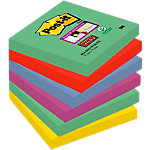 Notes adhésives Post it Super Sticky Marrakech Assortiment 76 x 76 mm 6 unités de 90 feuilles 6 unités de 90 feuilles