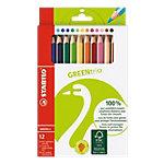 Crayons de couleurs Stabilo GREENtrio Assortiment 12 Unités