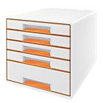 Module de classement Leitz WOW Blanc, orange métallisé 28,7 x 36,3 x 27 cm