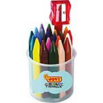 Crayons gras JOVI Triwax Pointe ronde Assortiment 24 Unités