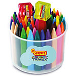 Crayons gras JOVI Triwax Pointe ronde Assortiment 72 Unités