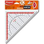 Equerre géométrique Maped 28700 Transparent, rouge 26 cm