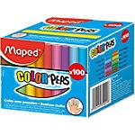 Craie de couleurs rondes Maped 935021 Assortiment 100 Unités