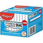 Craies blanches rondes Maped 935020 Blanc 100 Unités