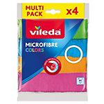 Lavette Microfibre Vileda Vileda Multi usage Microfibre 4 Unités