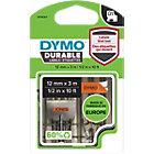 Ruban d'étiquettes DYMO D1 Durable sur Orange 12 mm x 3 m