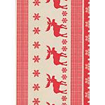 Papier cadeau de Noël Papyrus Bodo 50 cm x 50 m Rouge