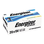Piles alcalines Energizer Alcaline Eco Advanced 9V Paquet 20