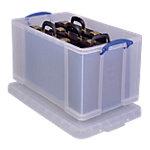 Bacs d'archive Really Useful Boxes 44 x 71 x 38 cm Plastique Transparent