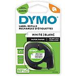 Étiquettes DYMO Papier Letratag 91220 Noir sur Blanc 12 mm x 4 m