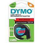 Ruban d'étiquettes DYMO Plastique 91203 Noir sur Rouge 12 mm x 4 m