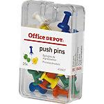 Épingles de couleurs Office Depot Assortiment   25 Unités