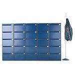 Caissons à tiroirs pour dossiers suspendus Bisley Bleu 47 x 62,2 x 151,1 cm