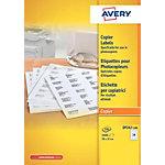Étiquettes pour photocopieur Avery DP247 Blanc 70 x 37 mm 100 Feuilles