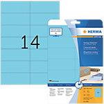 Étiquettes multifonctions HERMA Bleu 105 x 42,3 mm 20 Feuilles