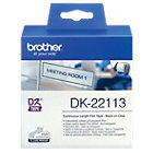 Étiquettes Brother DK22113 62 mm x 15,2 m Transparent