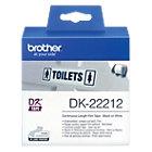Ruban continu Brother DK22212 62 mm x 15,24 m Noir, blanc