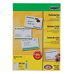 Cartes de visite pour PC Sigel 3C Ultra Blanc 200 g