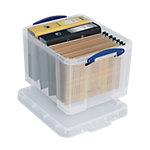 Boîte d'archivage Really Useful Boxes 35 litres 48 x 39 x 31 cm Plastique Transparent