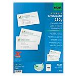 Cartes de visite pour PC Sigel 3C Ultra Blanc Lin 210 g