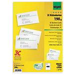 Cartes de visite pour PC Sigel 3C Ultra blanc Lisse 190 g