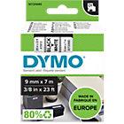 Ruban étiquette DYMO D1 40913 Noir sur Blanc 9 mm x 7 m