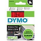 Ruban d'étiquettes DYMO D1 40917 Noir sur Rouge 9 mm x 7 m