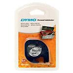 DYMO Labels S0721730 12 mm x 4 m Schwarz, Silber