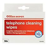 Office Depot Telefon Reinigungstücher einzeln verpackt   50 Stück