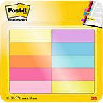 Post it Haftstreifen Page Marker neonfarbig 12,7 mm 10 Stück 50 Streifen