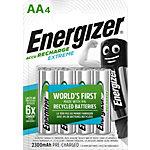 Energizer Wiederaufladbare Batterien Recharge Extreme AA 4 Batterien