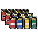 Post it Index Haftstreifen Farbig assortiert 25.4 x 43.2 mm 12 Stück 50 Streifen
