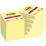 Post it Notes Super Sticky 62212SY Gelb Blanko 48 x 48 mm 12 Stück à 90 Blatt