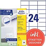 Avery Zweckform Universal Etiketten  Weiss 70 x 35 mm 100 Blatt